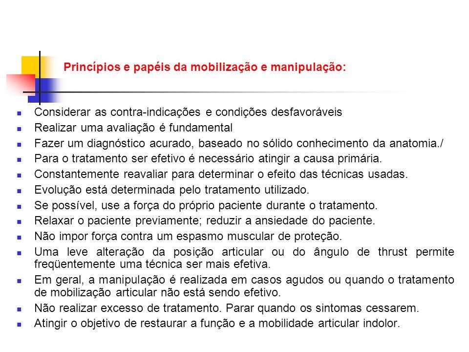 Princípios e papéis da mobilização e manipulação: