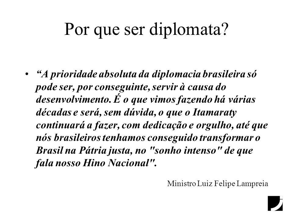 Por que ser diplomata