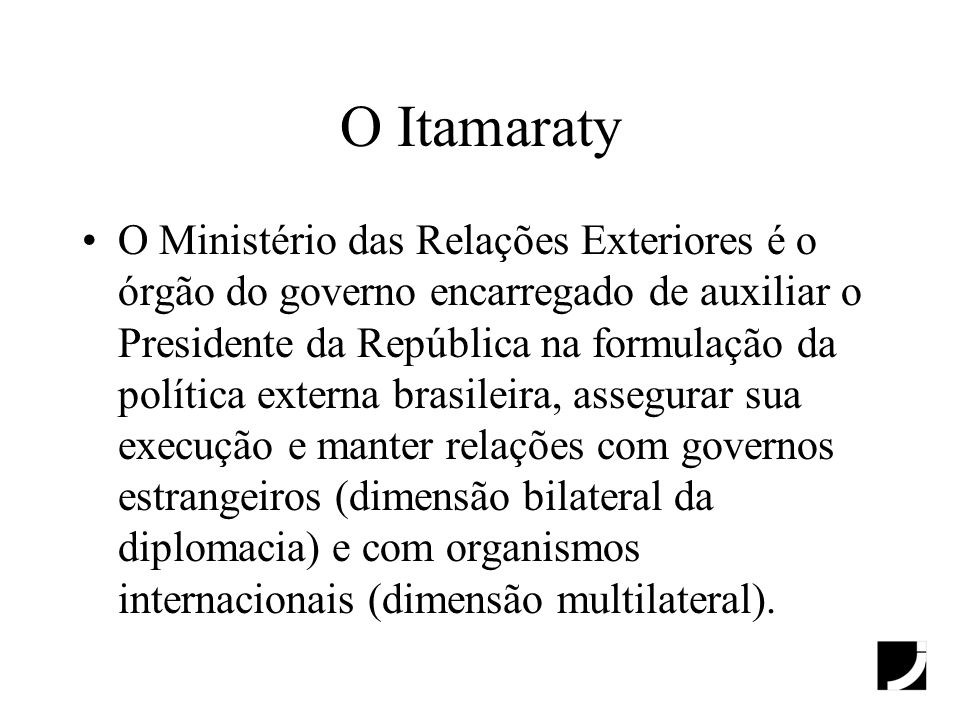O Itamaraty