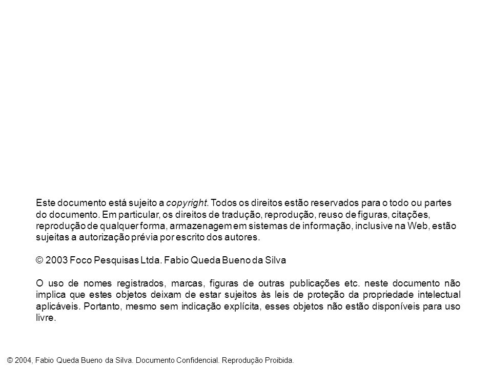 Este documento está sujeito a copyright