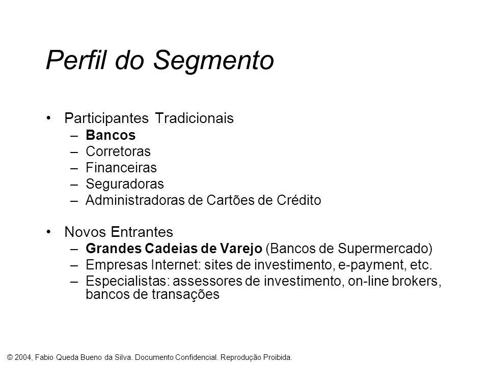 Perfil do Segmento Participantes Tradicionais Novos Entrantes Bancos
