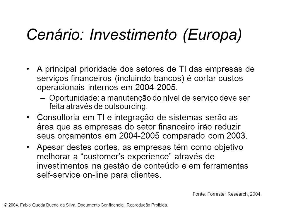 Cenário: Investimento (Europa)