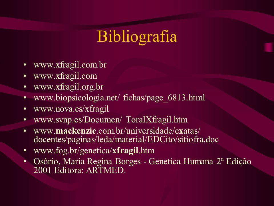 Bibliografia www.xfragil.com.br www.xfragil.com www.xfragil.org.br