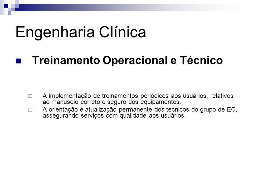Engenharia Clínica Treinamento Operacional e Técnico