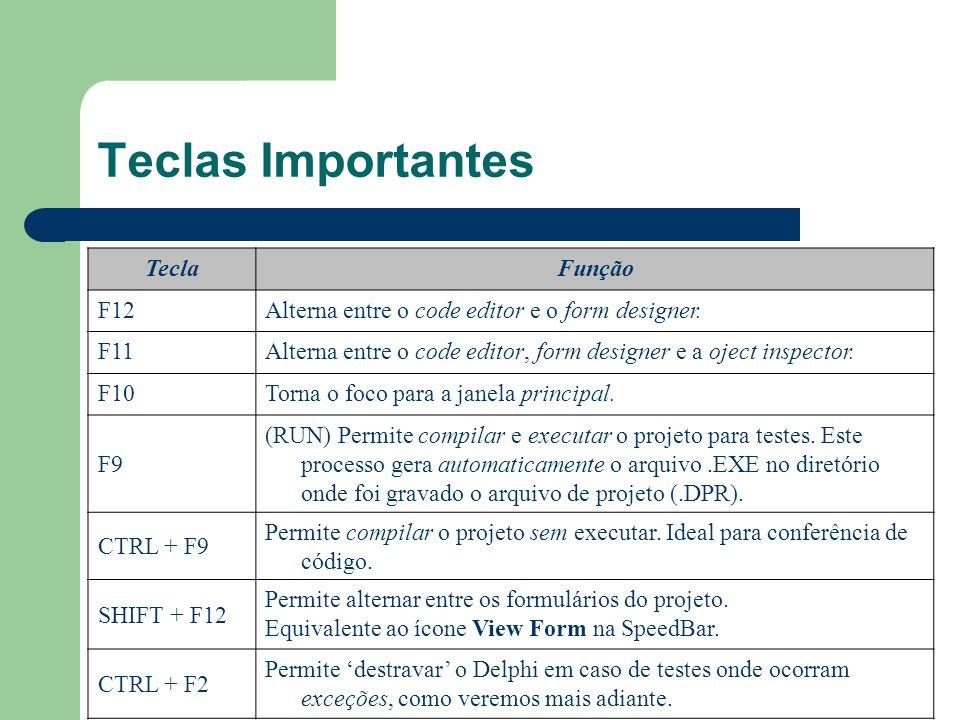 Teclas Importantes Tecla Função F12
