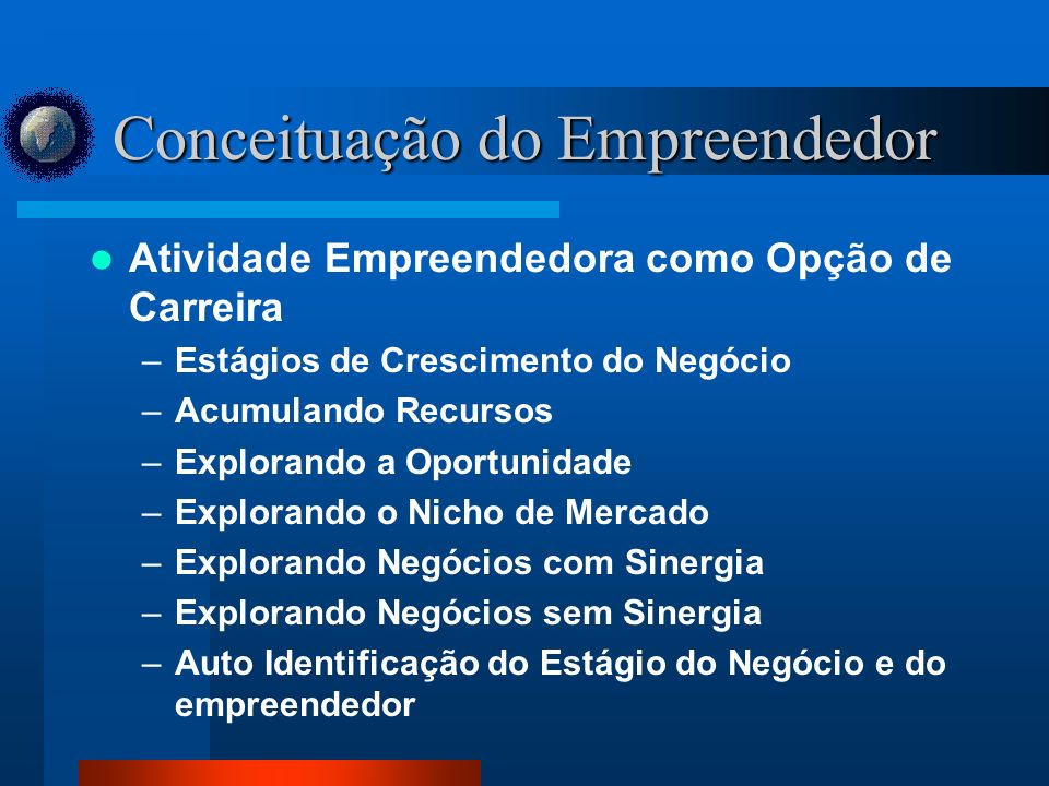 Conceituação do Empreendedor
