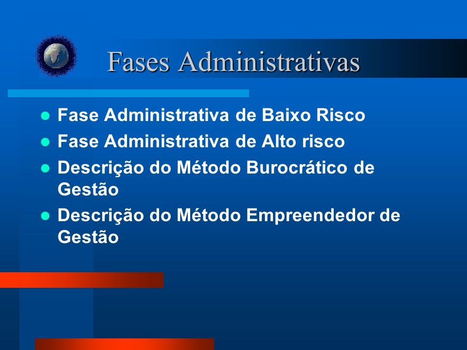 Fases Administrativas