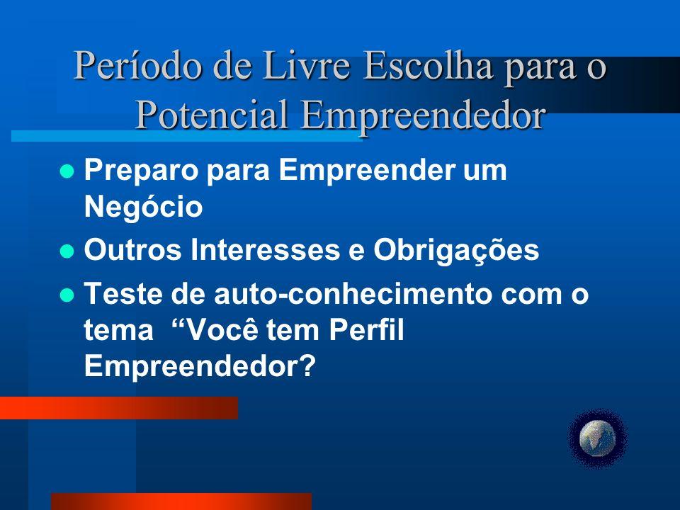Período de Livre Escolha para o Potencial Empreendedor