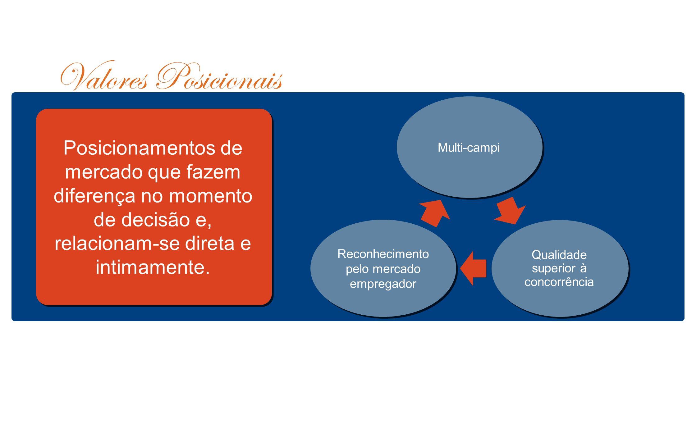 Valores Posicionais Posicionamentos de mercado que fazem diferença no momento de decisão e, relacionam-se direta e intimamente.