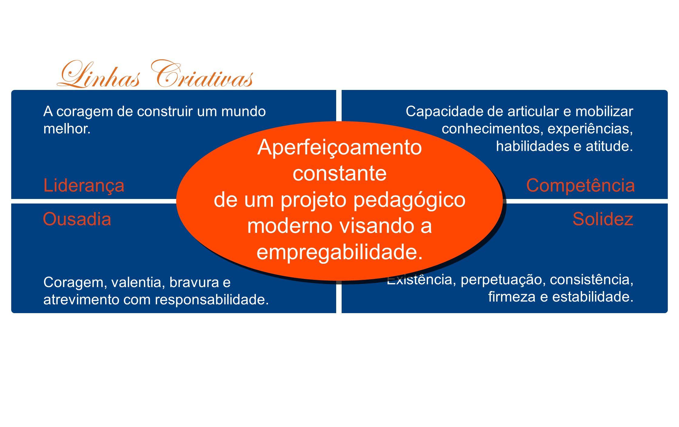 de um projeto pedagógico moderno visando a empregabilidade.