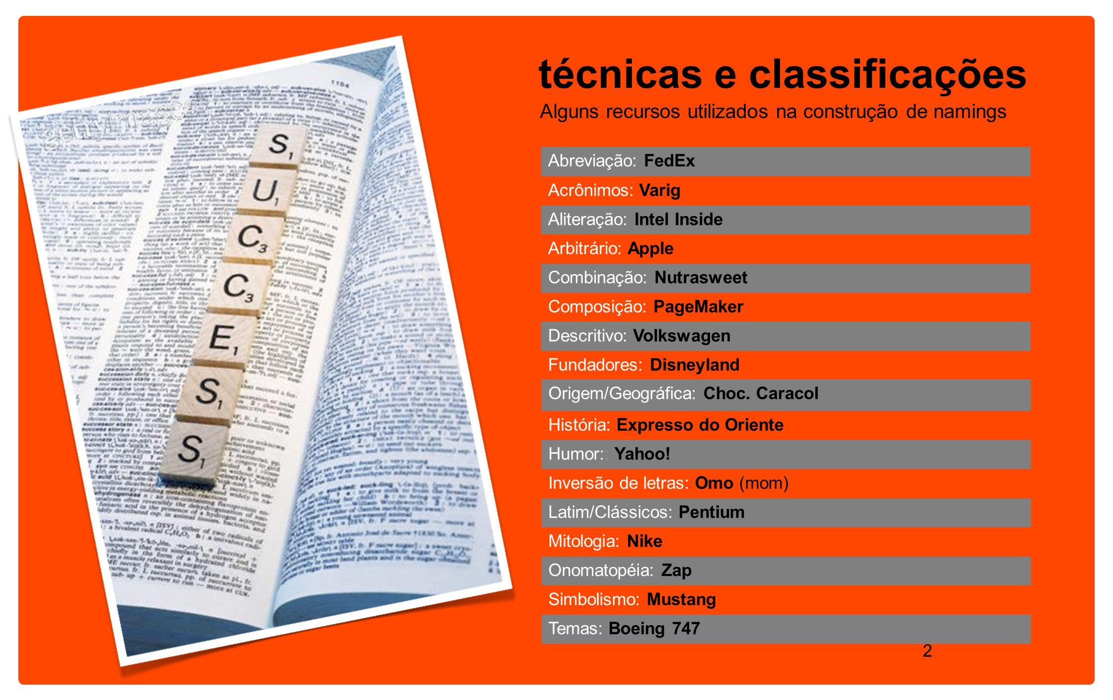 técnicas e classificações