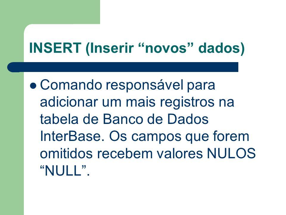 INSERT (Inserir novos dados)