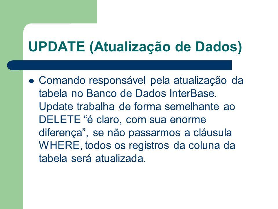 UPDATE (Atualização de Dados)