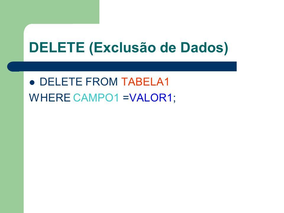 DELETE (Exclusão de Dados)