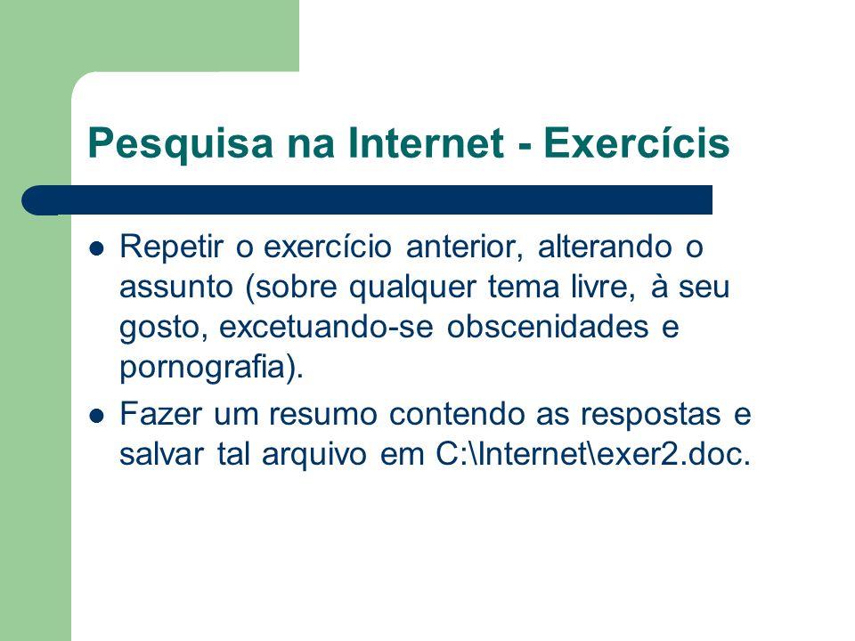 Pesquisa na Internet - Exercícis