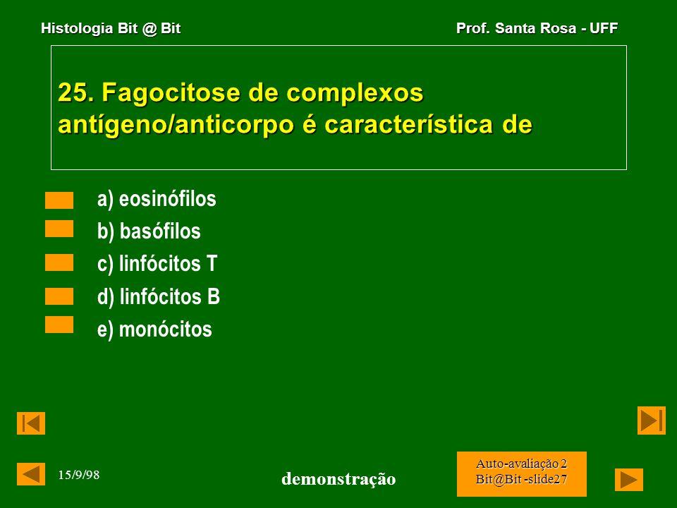 25. Fagocitose de complexos antígeno/anticorpo é característica de