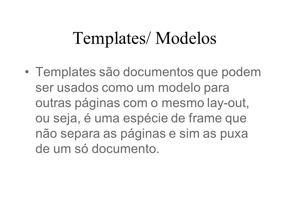 Templates/ Modelos