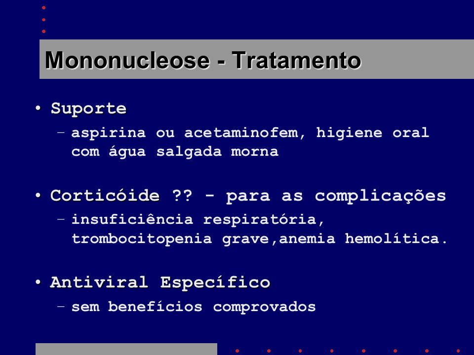 Mononucleose - Tratamento