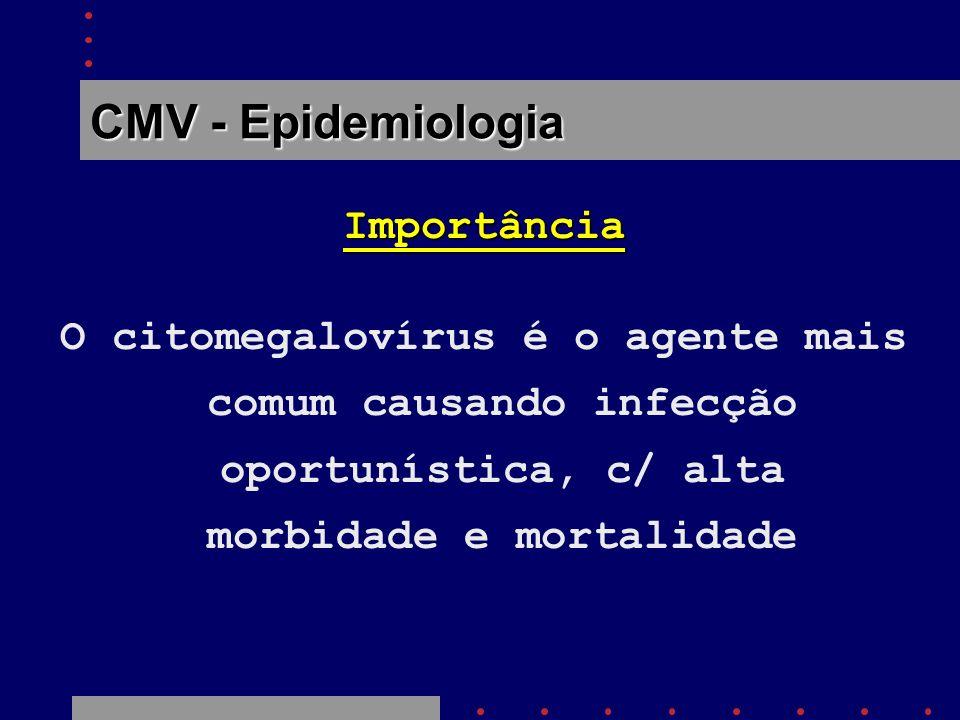 CMV - Epidemiologia Importância