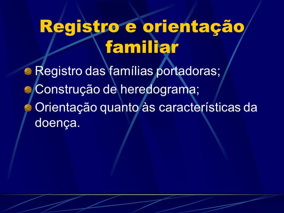 Registro e orientação familiar