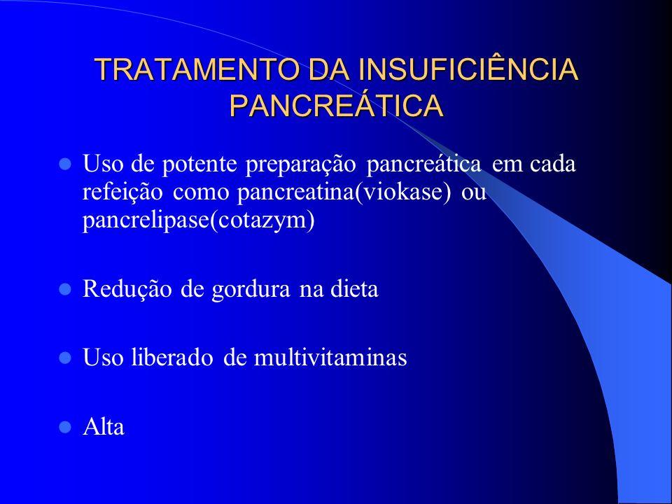 TRATAMENTO DA INSUFICIÊNCIA PANCREÁTICA