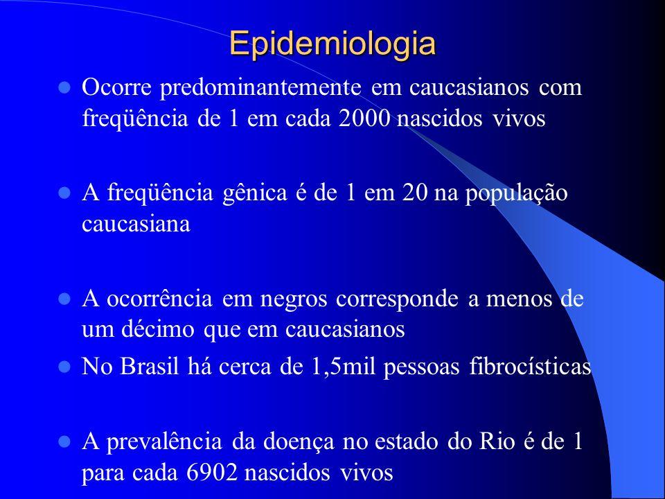 Epidemiologia Ocorre predominantemente em caucasianos com freqüência de 1 em cada 2000 nascidos vivos.