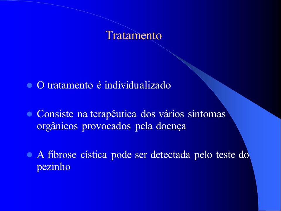 Tratamento O tratamento é individualizado