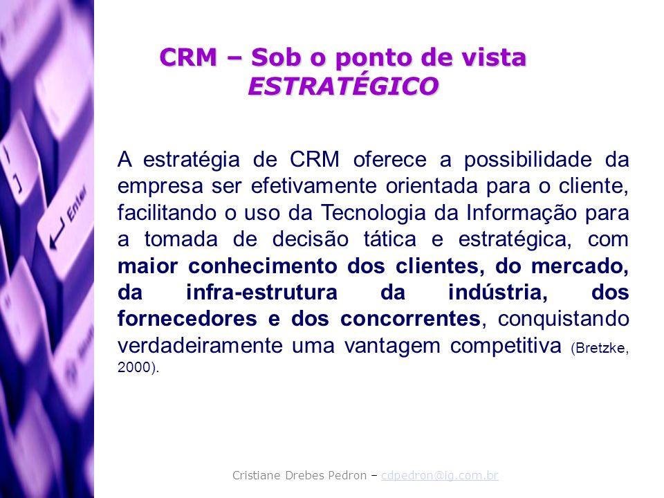 CRM – Sob o ponto de vista ESTRATÉGICO