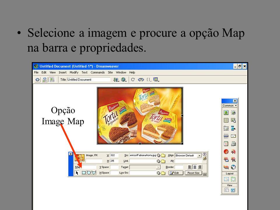 Selecione a imagem e procure a opção Map na barra e propriedades.