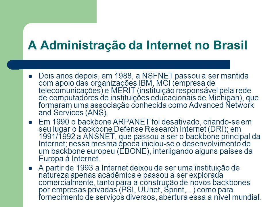 A Administração da Internet no Brasil