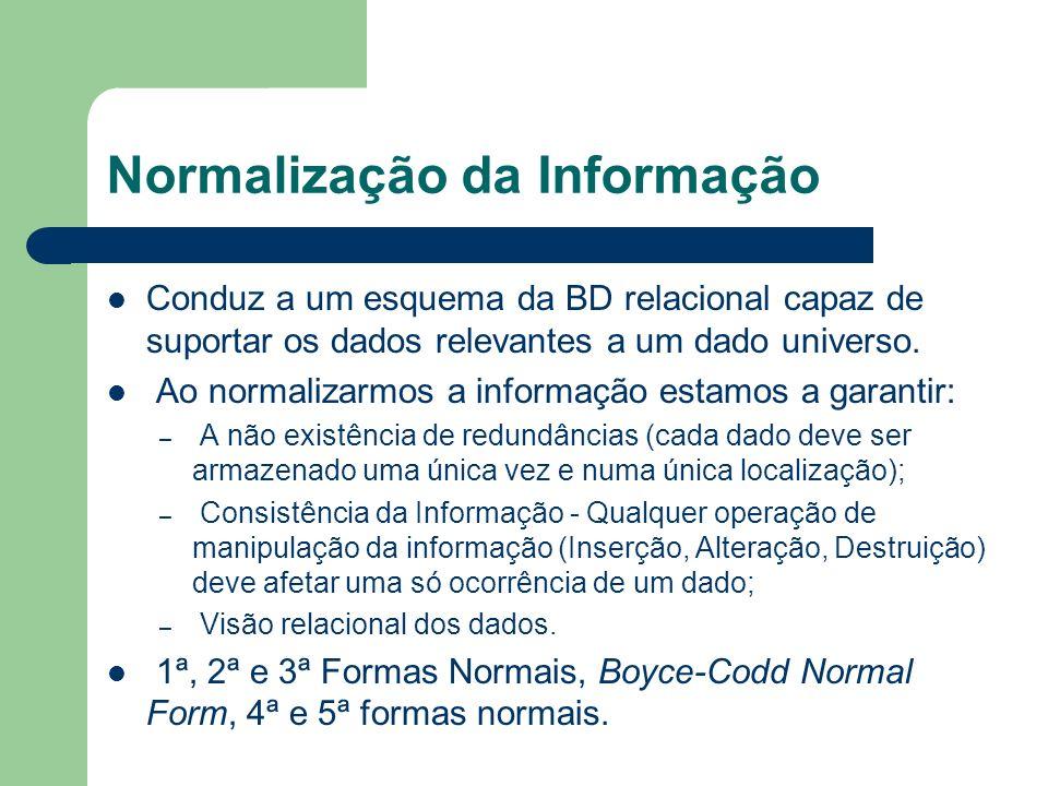 Normalização da Informação