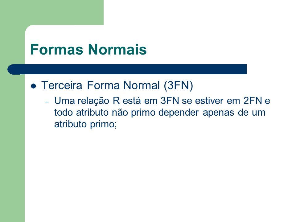 Formas Normais Terceira Forma Normal (3FN)