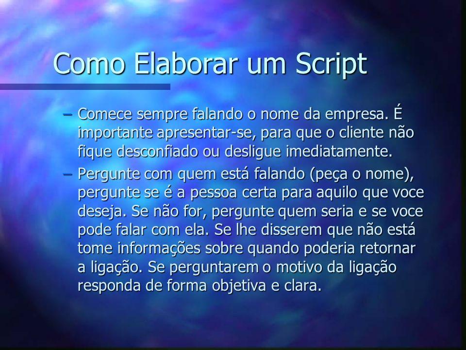 Como Elaborar um Script
