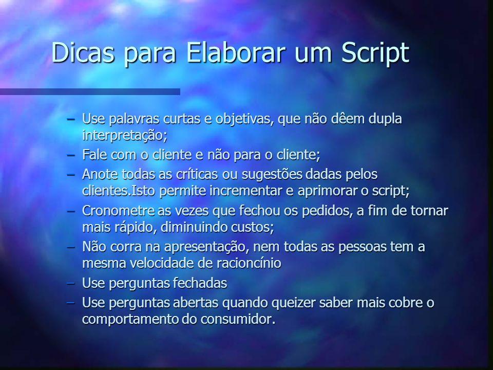 Dicas para Elaborar um Script