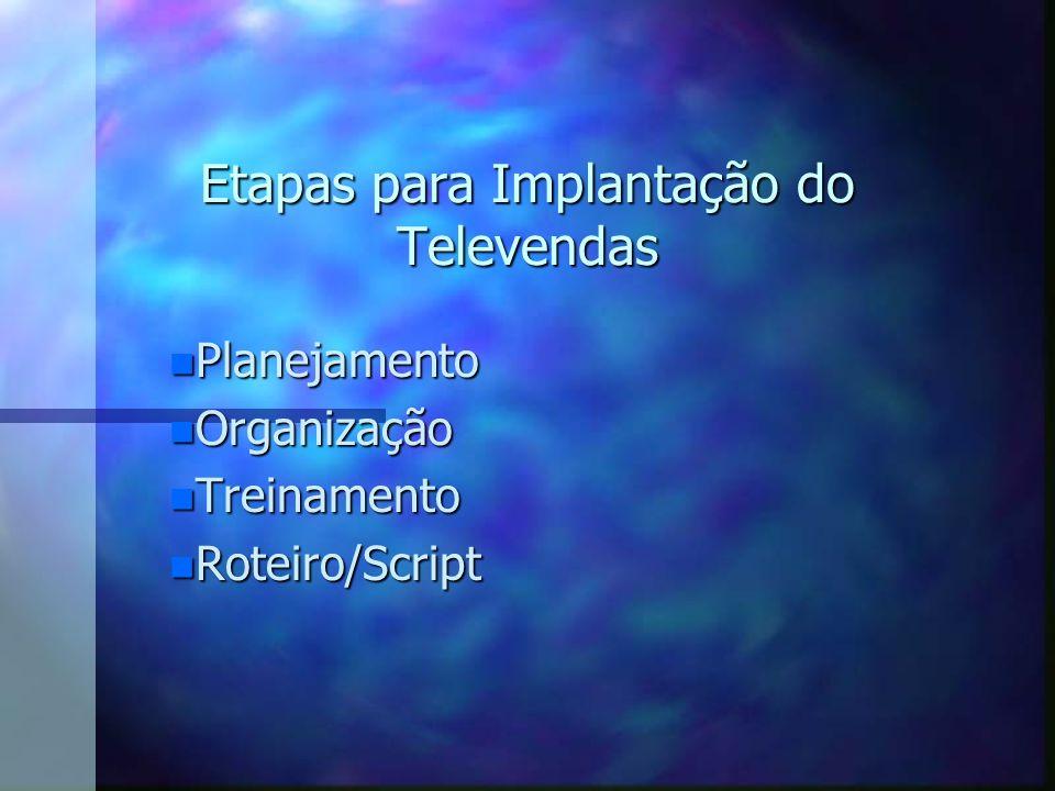 Etapas para Implantação do Televendas