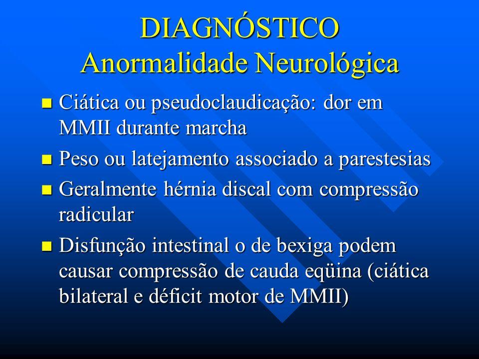 DIAGNÓSTICO Anormalidade Neurológica