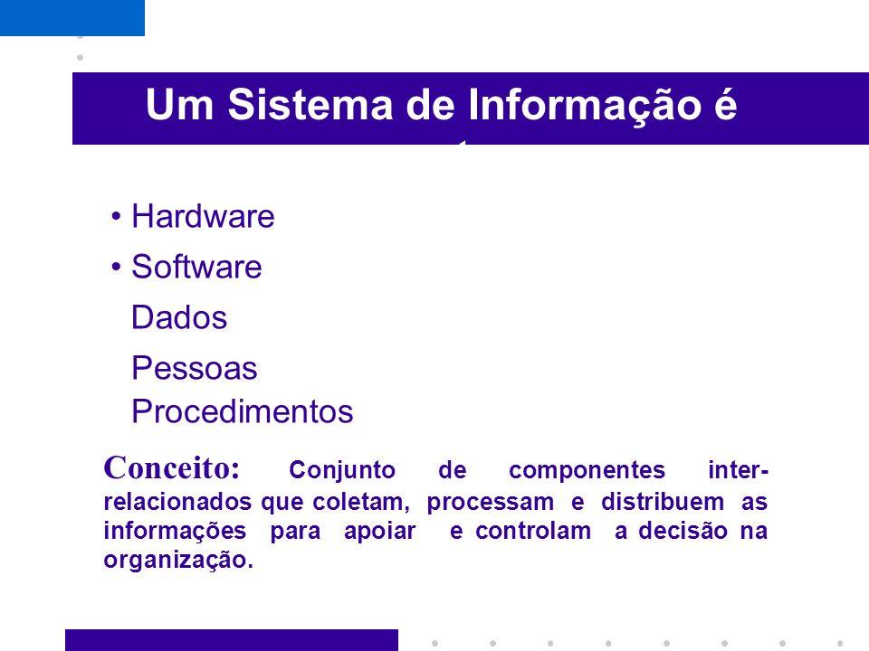Um Sistema de Informação é composto por:
