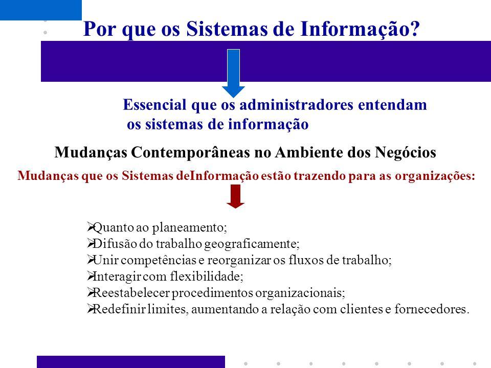 Por que os Sistemas de Informação