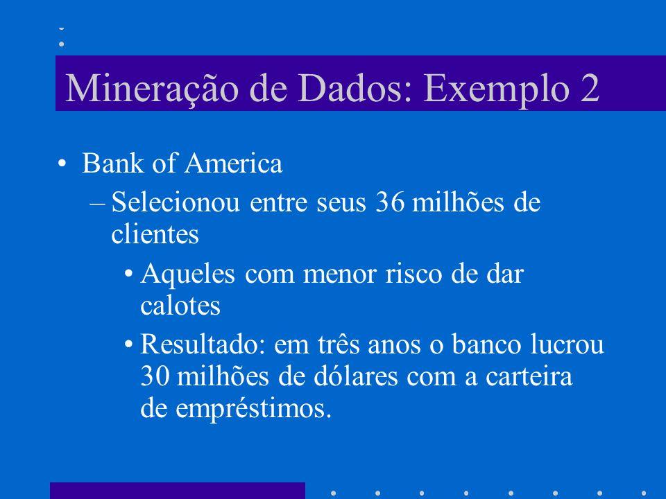 Mineração de Dados: Exemplo 2