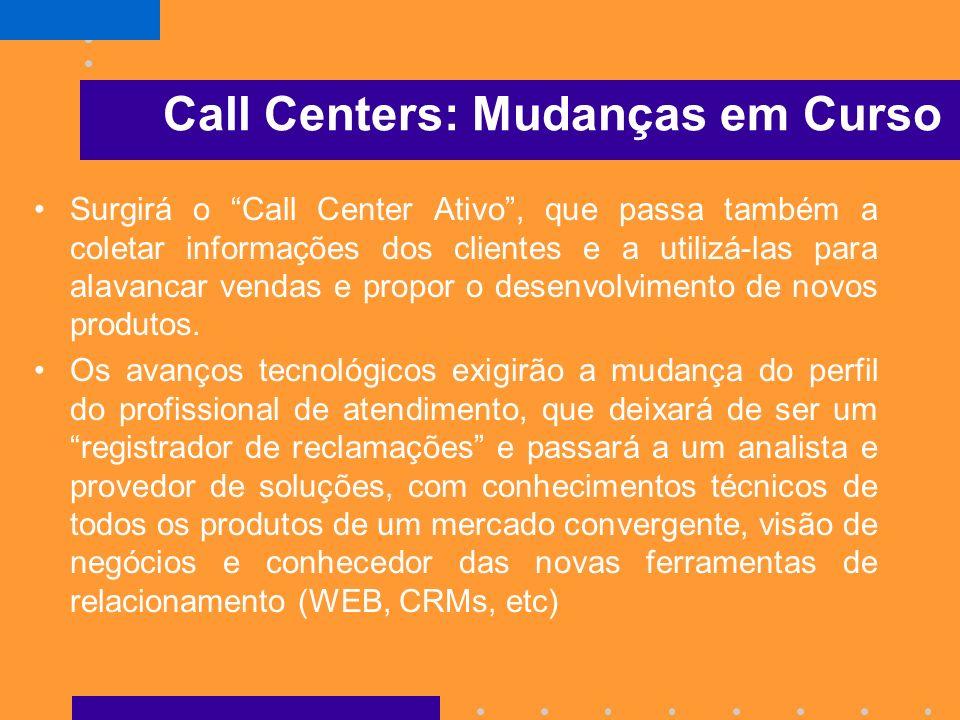 Call Centers: Mudanças em Curso