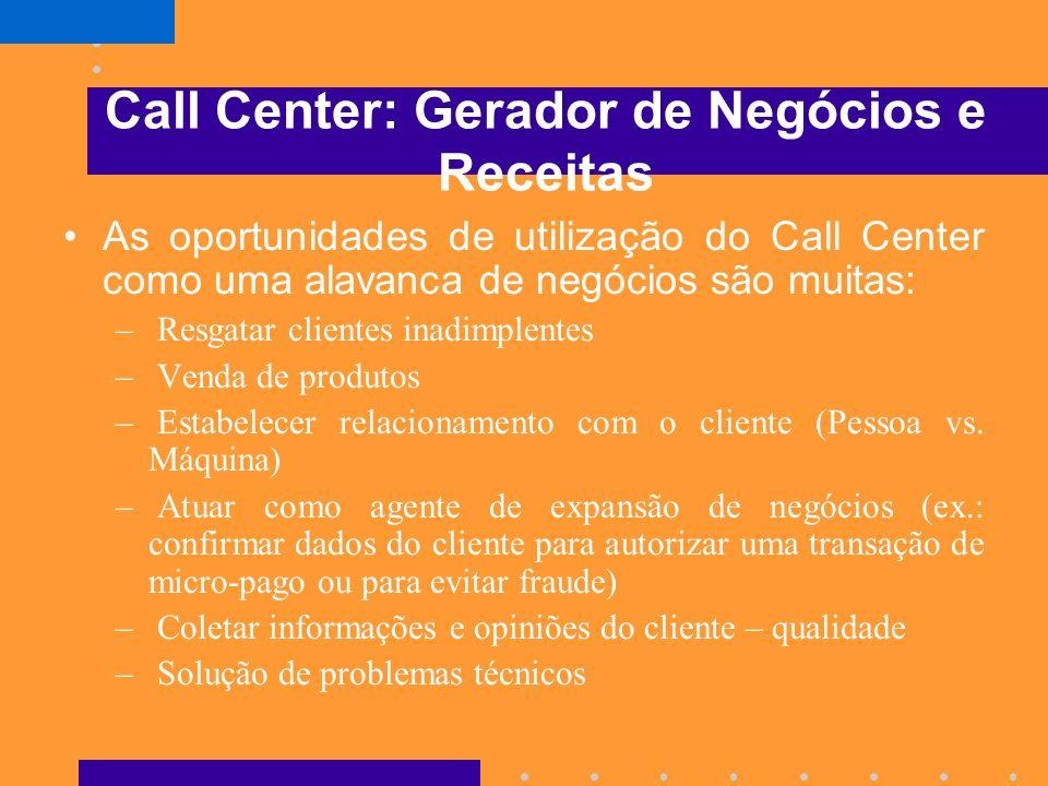 Call Center: Gerador de Negócios e Receitas
