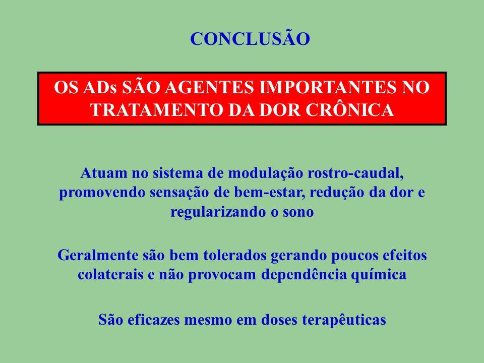 OS ADs SÃO AGENTES IMPORTANTES NO TRATAMENTO DA DOR CRÔNICA