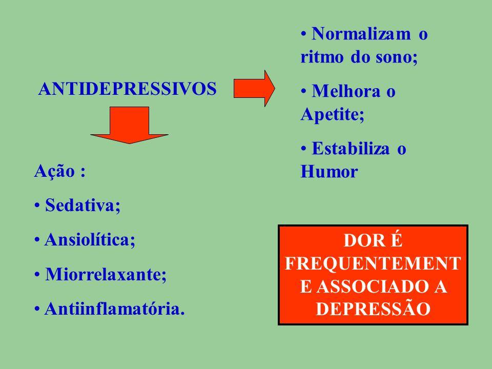DOR É FREQUENTEMENTE ASSOCIADO A DEPRESSÃO