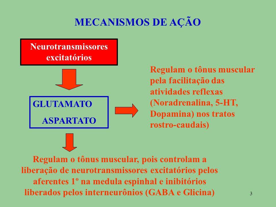 Neurotransmissores excitatórios