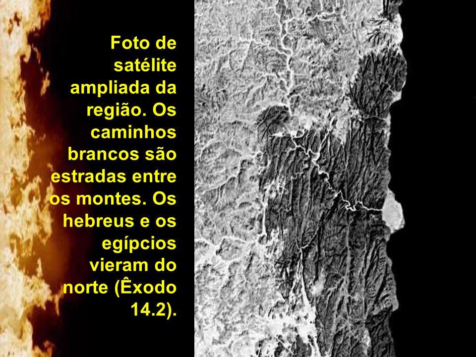 Foto de satélite ampliada da região