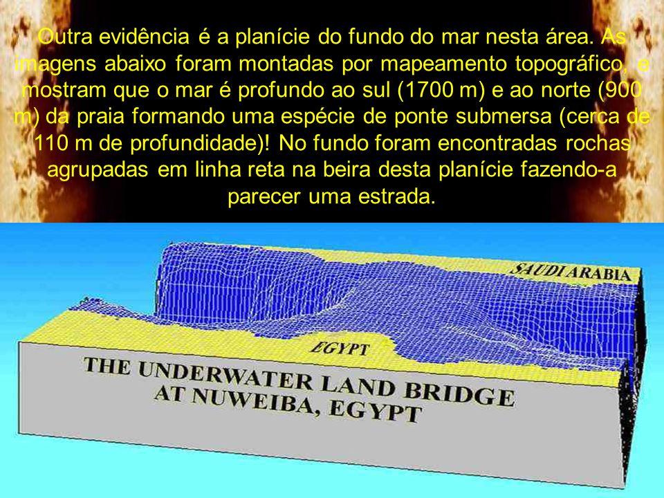 Outra evidência é a planície do fundo do mar nesta área