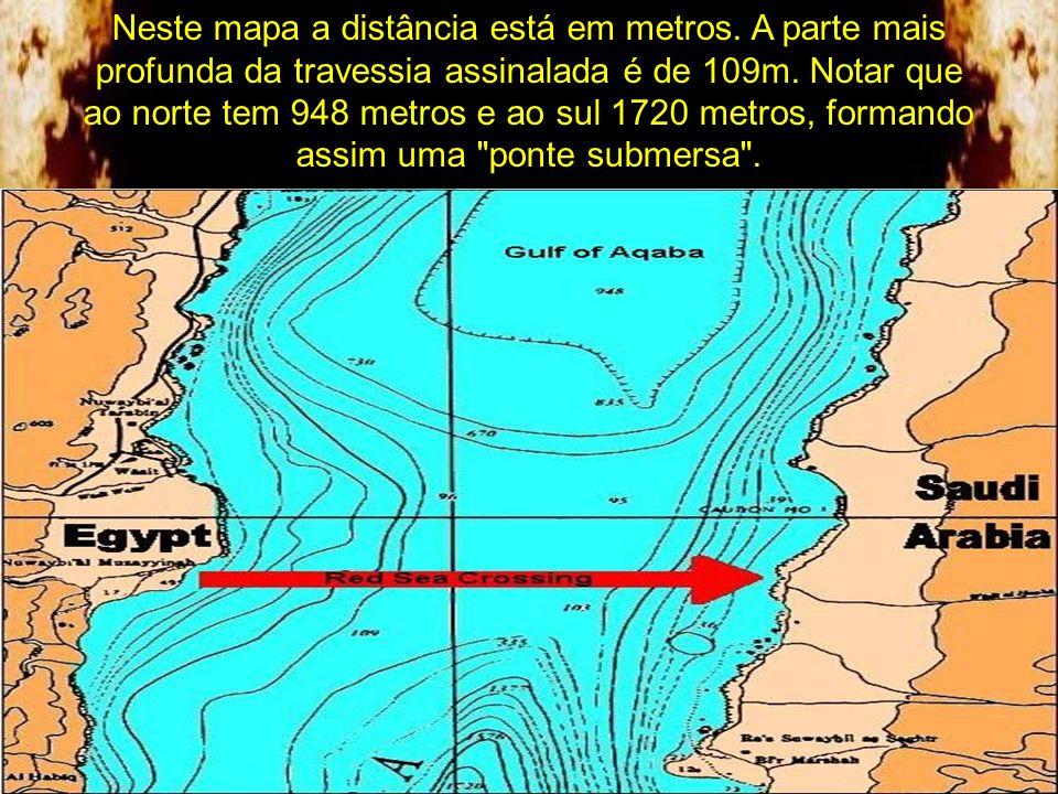Neste mapa a distância está em metros