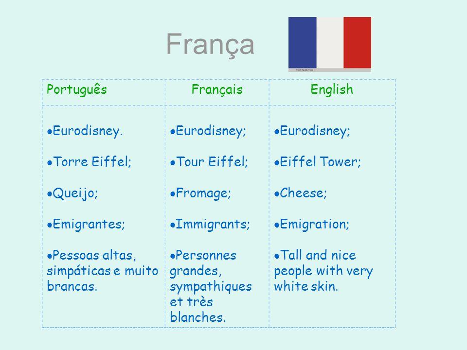 França Português Français English Eurodisney. Torre Eiffel; Queijo;