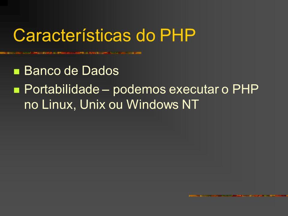 Características do PHP