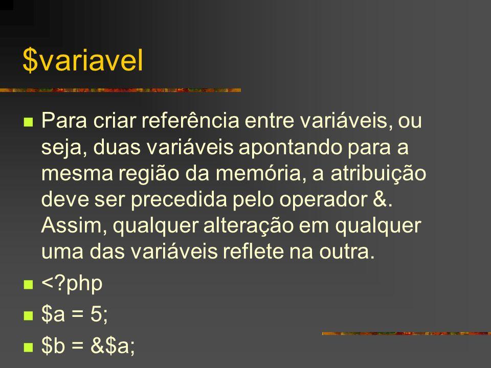 $variavel